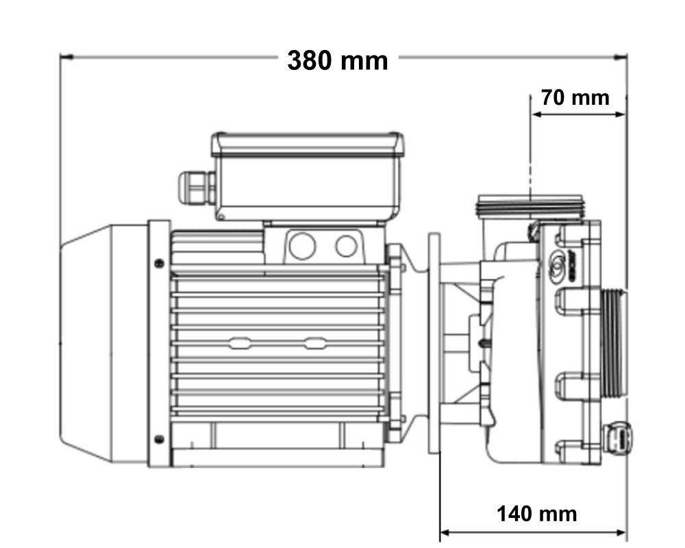 aqua-flo flo-master xp2e single-speed pump - click to enlarge